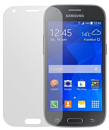 dipos I 2X Schutzfolie matt kompatibel mit Samsung Galaxy Ace 4 Folie Bildschirmschutzfolie