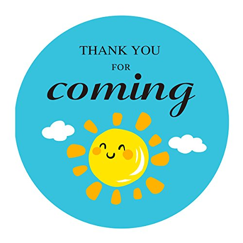 MAGJUCHE Sun Clouds Thank You Stickers, You are My Sunshine Baby Shower Birthday Party Favors Sticker Labels, 2 Inch, 40-Pack