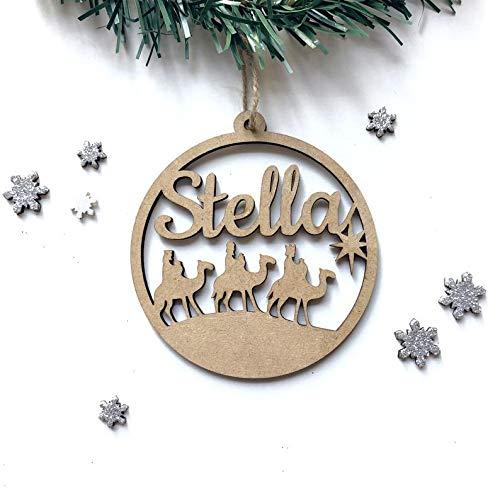 Etiquetas Navidad Nombre Reyes Magos Marca LEOANDMENA