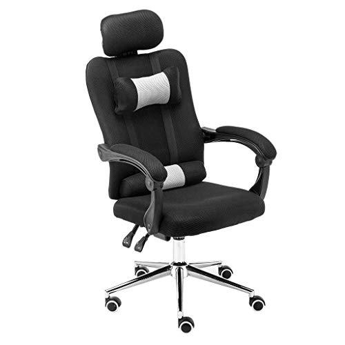 LG Snow Silla de oficina, escritorio, una silla con apoyabrazos ordenador del juego en 3D y altura ajustable, silla del acoplamiento con el grueso cojín del asiento, ajuste de altura del asiento, sill
