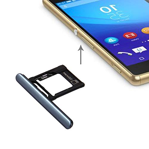 AMPELOS Ranura Micro SIM Card + SD/Bandeja Puerto del Enchufe del Polvo for Sony Xperia XZ Bounty (versión Doble SIM) Bandeja (Color : Black)