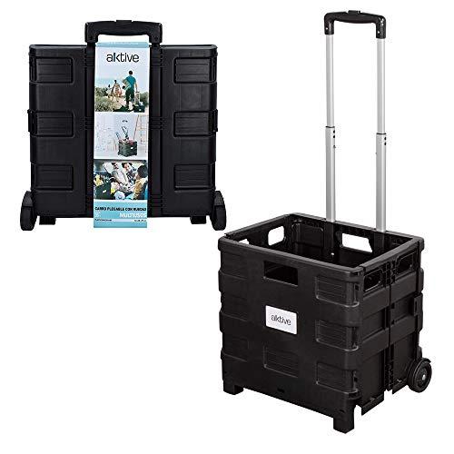 AKTIVE 82127 - Carro de almacenaje trolley negro AKTIVE