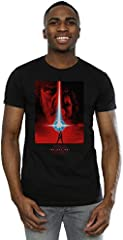 STAR WARS Hombre The Last Jedi Red Poster Camiseta
