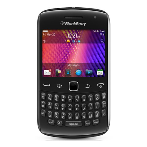 Blackberry Curve 9360 entriegelte Quad-Band 3G-GSM-Telefon mit 5MP Kamera, QWERTZ-Tastatur, GPS und Wi-Fi - Nein - Schwarz