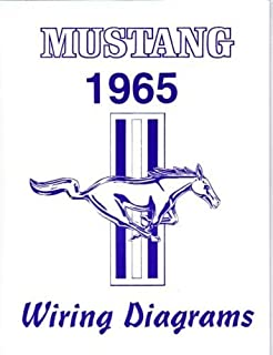 1965 FORD MUSTANG COMPLETE 16 PAGE SET OF FACTORY ELECTRICAL WIRING DIAGRAMS & SCHEMATICS GUIDE - Covers All Models