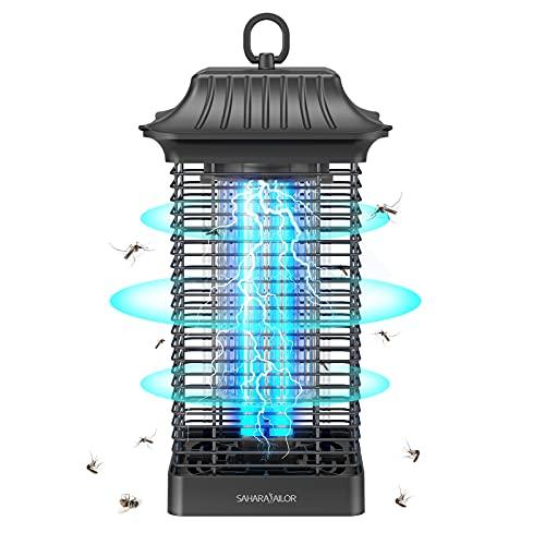 Sahara Sailor Lámpara Antimosquitos Eléctrico,18W UV LED Lámpara Mata Insectos Impermeable,4000V Alta Potencia,Alcance Efectivo de 90 m²,para Dormitorio, Salón, Patio, Cocina, Jardín