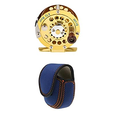 MagiDeal Fly Fishing Set Combo - Fly Fishing Reel 3/4# + Reel Cover Protective Pouch by MagiDeal