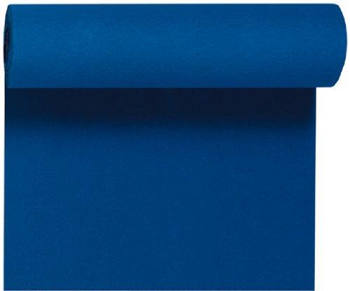 Duni Tête-à-Tête-Tischläufer aus Dunicel alle 120 cm perforiert, Uni dunkelblau, 40 x 2400 cm