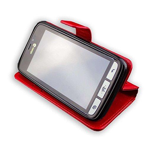caseroxx Handy Hülle Tasche kompatibel mit Doro 8030/8031 Bookstyle-Hülle Wallet Hülle in rot