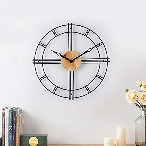 LCSD Reloj de pared nórdico moderno minimalista reloj de pared relojes de moda creativa atmósfera silenciosa reloj sala de estar personalidad hogar cuarzo 58,4 cm