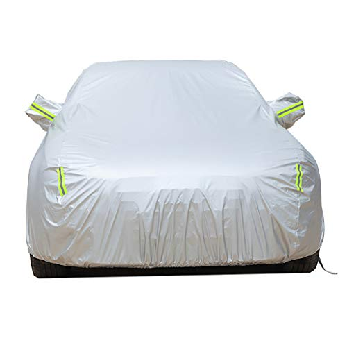 KXBYMX Car Hood Car Cover, Stretch Cloth Cover, Sunscreen, Compatible with Bently Mulsanne Engine Cover (Color : Silver, Size : Flying Spur) image