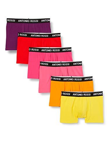 FM London Herren Fitted Boxer Hipster, Mehrfarbig Gelb (Bright 06), Medium (12er Pack)