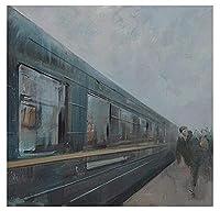 大人の子供のための番号キットでペイント _ 蒸気機関車レトロ列車 _ Diyデジタルキャンバスの油絵のギフト _ 番号キットで家の装飾 _ 40X50Cm _ 【ギフト】木製フレーム