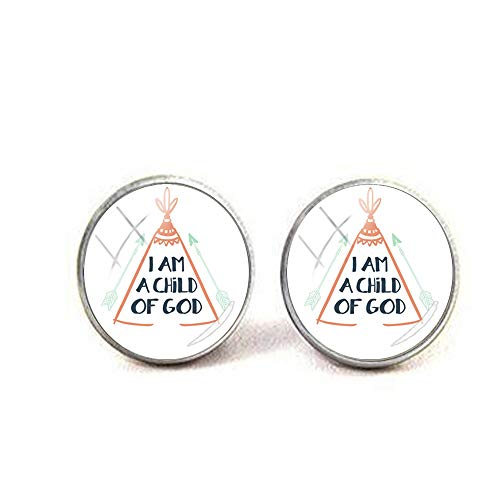 bab inspirierende Sprache I Am a Child of God Magnet-Ohrringe Literary Jewelry