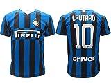 Maglia Inter Lautaro Martinez 10 Maglietta Calcio Prodotto Ufficiale 2019/2020 F.C. Internazionale Bambino Ragazzo (8 Anni)
