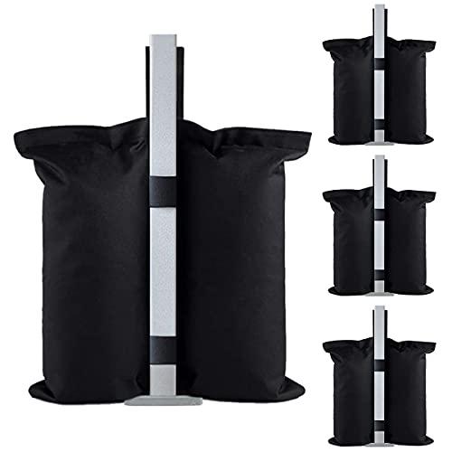 Lot de 4 poids pour tonnelle et poids - Sacs de sable robustes pour tonnelle, tonnelle de jardin, tonnelle, parasol