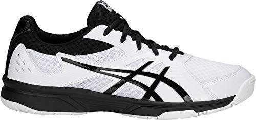 ASICS Men's Upcourt 3 Volleyball Shoes, 10.5M, White/Black