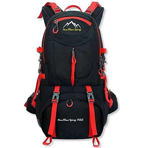 OcioDual Mochila Impermeable 40 litros Negra GF80761 Multiples Bolsillos de Senderismo Acampada Montaña para Hombres Mujeres