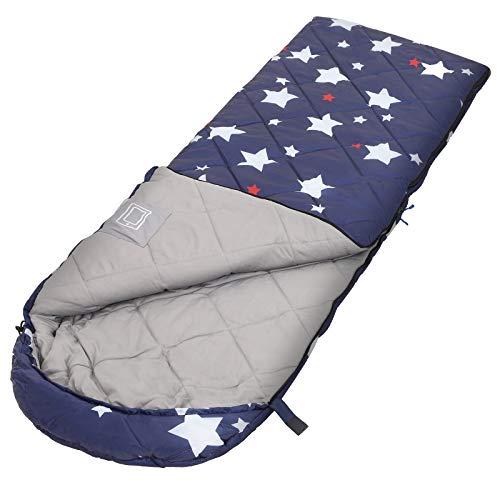 SONGMICS Schlafsack, Kinderschlafsack für Camping, kompakt, dunkelblau GSB20IN