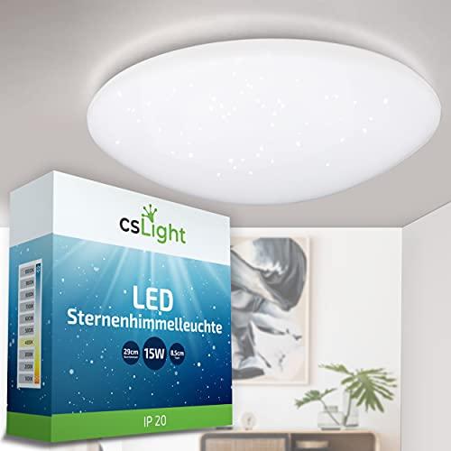 CS Light | LED Deckenleuchte - 15W Sternenhimmel Deckenleuchte – Ø30cm LED Deckenlampe 1200lm - für Kinder-, Wohn- & Schlafzimmer [Energieklasse A+]