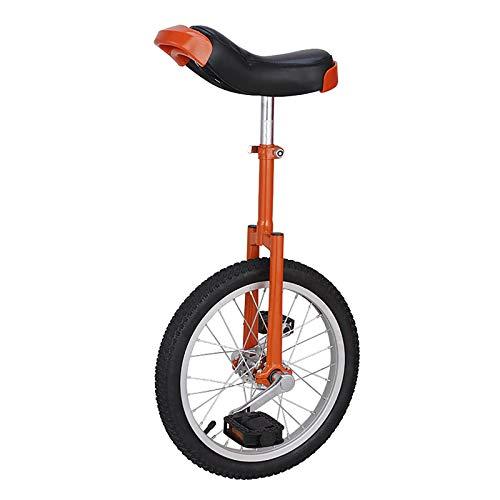 Einrad Orange Einräder - 16/18 Zoll für Schüler/Anfänger, Großes 20-Zoll-Radausgleichsrad für Erwachsene/Große Kinder, Verstellbarer Sattel (Size : 20 Inch)