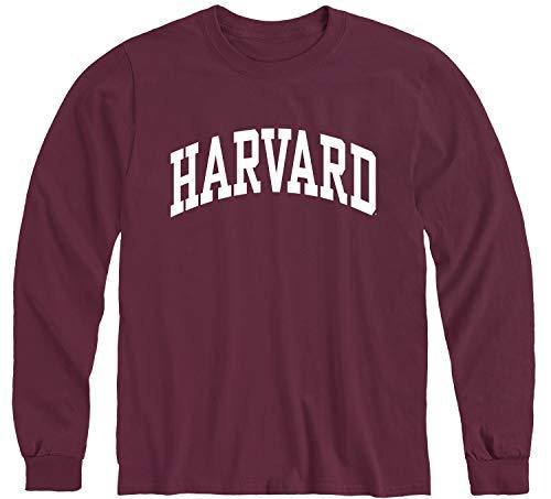 Ivysport Harvard University Crimson Long Sleeve T-Shirt, Classic, Maroon, Medium