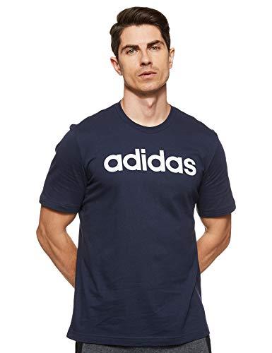 adidas Essentials Linear Logo tee Camiseta, Hombre, Azul (Legend Ink/White), L