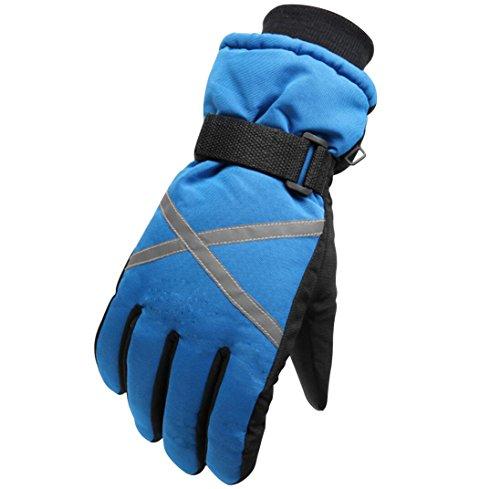 Barrageon Skihandschuhe, Herren Damen Wintersport Fingerhandschuhe Winddicht Wasserdicht, Outdoor Sports Warm Handschuhe für Skifahren Snowboarden Schneebälle-Spiel Arbeitets im Schnee F1501 - Blau