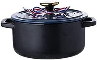 EMAUX Marmite Comme neuf Ø 20 cm 3,2 L Couvercle en Verre Induction émaillé pot