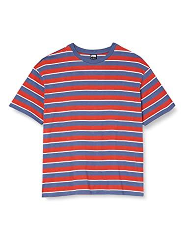 Urban Classics Yarn Dyed Oversized Board Stripe tee Camiseta, Color Azul Oscuro, M para Hombre