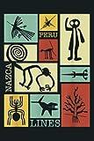Nazca Lines Peru Geoglyph Monkey Astronaut Spider Retro: Notebook Planner - 6x9 inch Daily Planner Journal, To Do List Notebook, Daily Organizer, 114 Pages