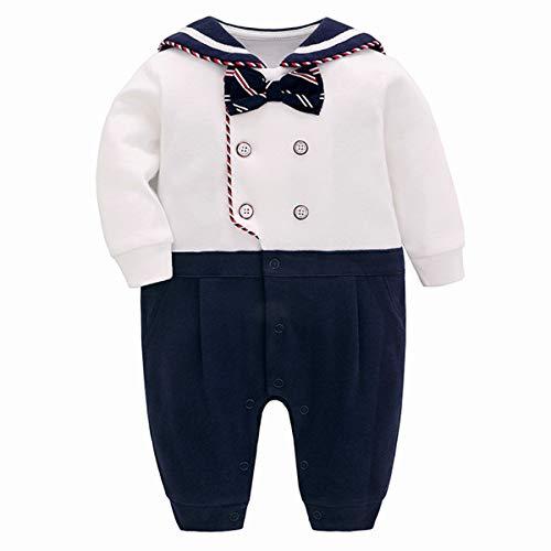 famuka Esmoquin de niño bautismo boda ropa de bebé traje de bebé recién nacido (D, 90)
