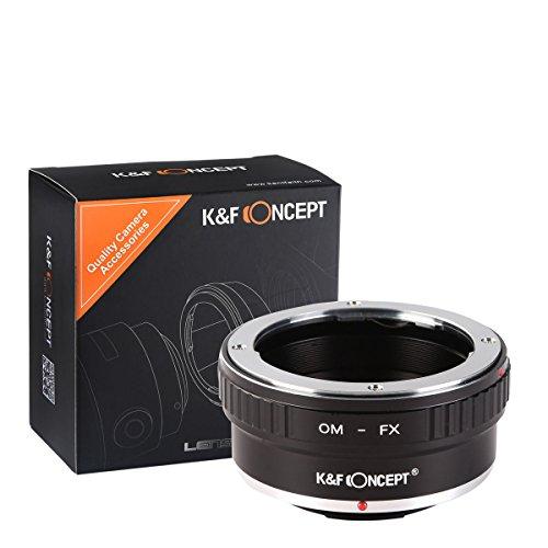 K&F Concept Adattatore da Om a FX, Om Fuji, Lens Mount per Olympus Zuiko Om a Fotocamera Fujifilm Fuji X FX Mount per Fuji XT2 XT20 XE3 XT1 X-T2