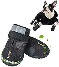 GGR Pet Boots 4 Pcs Summer Outdoor Breathable and Wearproof Running Shoes for Summer Dogs Pet Boots