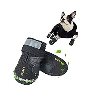 GGR Pet Boots Outdoor Breathable and Wearproof Running Shoes for Summer Dogs Pet Boots 4 Pcs