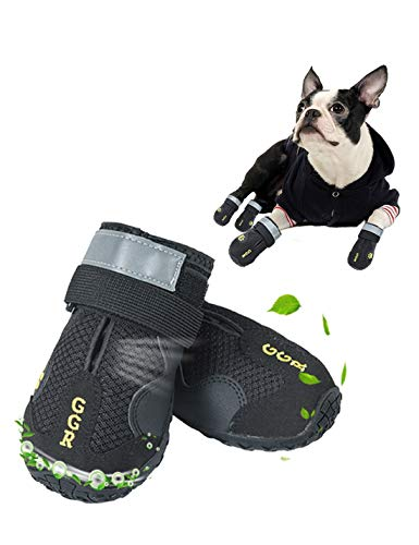 GGR Pet Boots for Hot Pavement Boots Outdoor Breathable and Wearproof Running Shoes for Summer Dogs Pet Boots