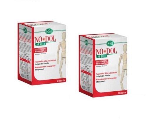 ESI NO DOL 60 CAPSULE nodol x flessibilità articolare con glucosamina no glutine - 2 CONFEZIONI