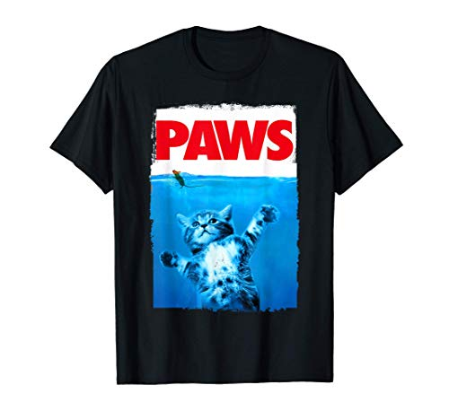 Paws Cat and Mouse Top, Cute Funny Cat Lover Parody Top T-Shirt