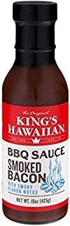 King's Hawaiian BBQ Sauce - Smoked Bacon 15 oz (Pack of 3)