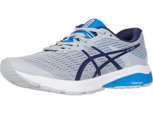 ASICS Men's GT-1000 8 Shoes, 10.5M, MID Grey/Peacoat