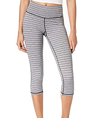 Ideology Striped Cropped Leggings Black Small
