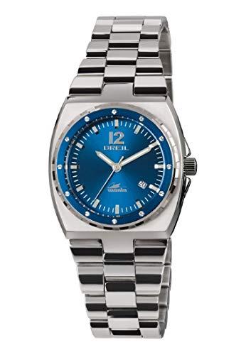 Reloj BREIL Mujer Manta Sport Esfera Azul e Correa in Acero, Movimiento Solo Tiempo - 3H Cuarzo