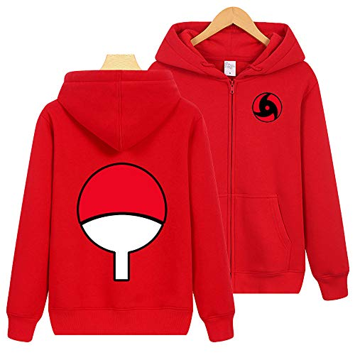 wywyet Pullover Anime Coat Long Sleeve Parent-Child Zip Outerwear with Hood Jacket Wear Unisex Naruto L