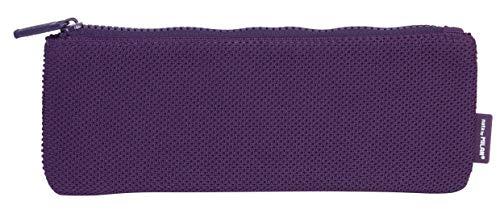MILAN Portatodo Pequeño Plano Knit Deep Purple Estuches, 23 cm, Morado