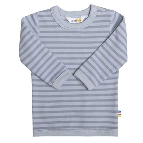 Joha Baby Kinder Jungen Langarmshirt aus Merino-Wolle/Bio-Baumwolle, Größe:86-92, Farbe:blau