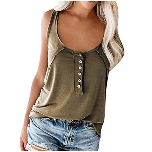 Fantastic Prices! Toimothcn Loose Tank Tops for Women O-Neck Sleeveless Vest Shirts Casual Solid T-S...