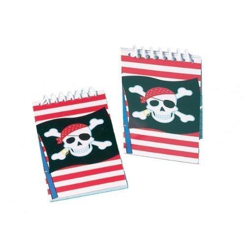 Bloc note Pirate (pack de 12) - Idéal pour remplir vos sacs de fêtes de pirates