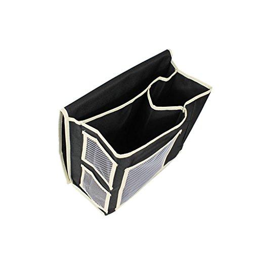 LOVIVER Bett Sofa Box Ablagebox Organzier Bettablage Tasche Ablagetasche Betttasche - Schwarz