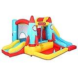 HSTD Casa Rebote Inflable, Castillo Hinchable Soplador Aire, Casa Juegos Pozo Bolas, Castillo Inflable para Saltar Tobogán para Niños