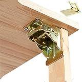 Hierro plegable Bisagra pata de la mesa plegable para soportes Tablas Silla plegable mesa de extensión Auto bloqueo Fold Pies Bisagras